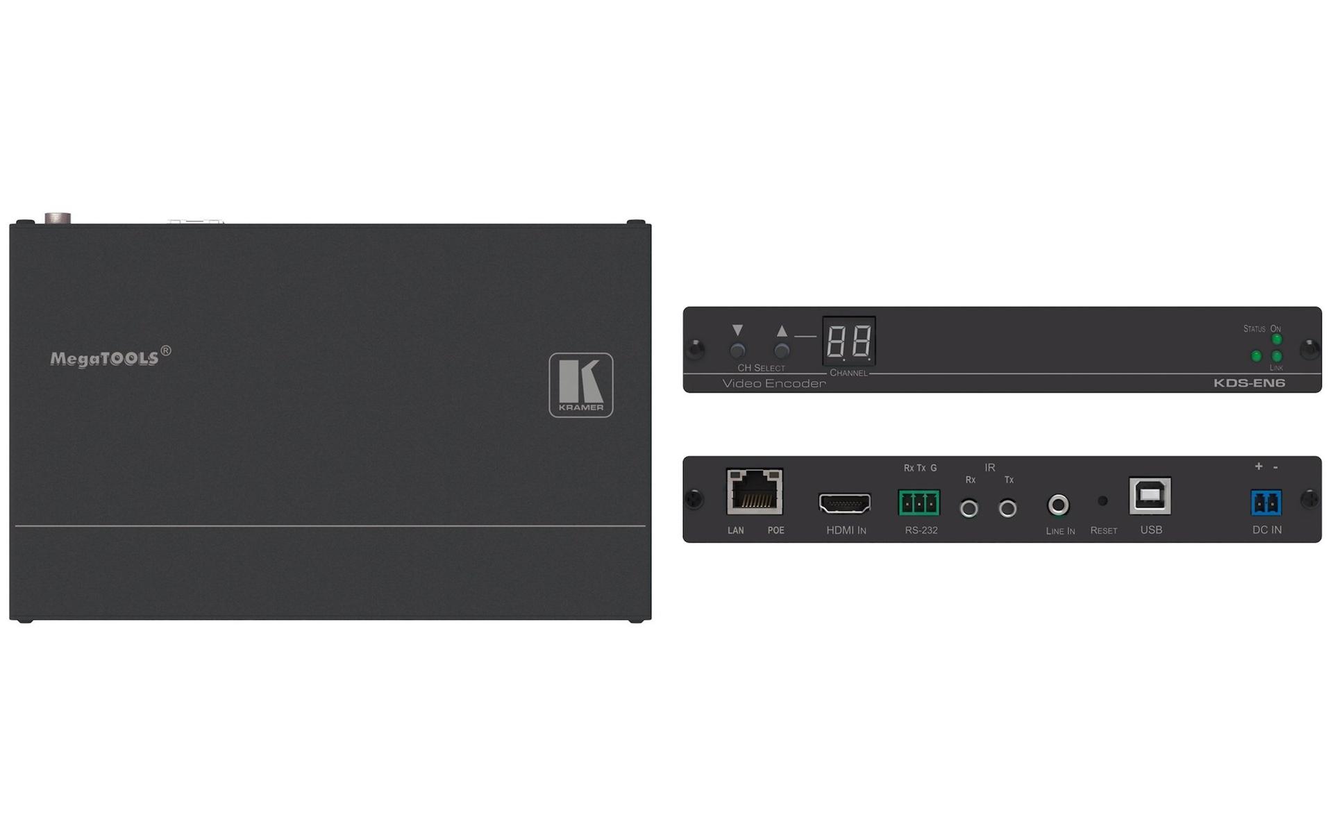 Kramer: KDS-EN6 4K 60Hz HDCP 2 2 Video Encoder & Decoder POE