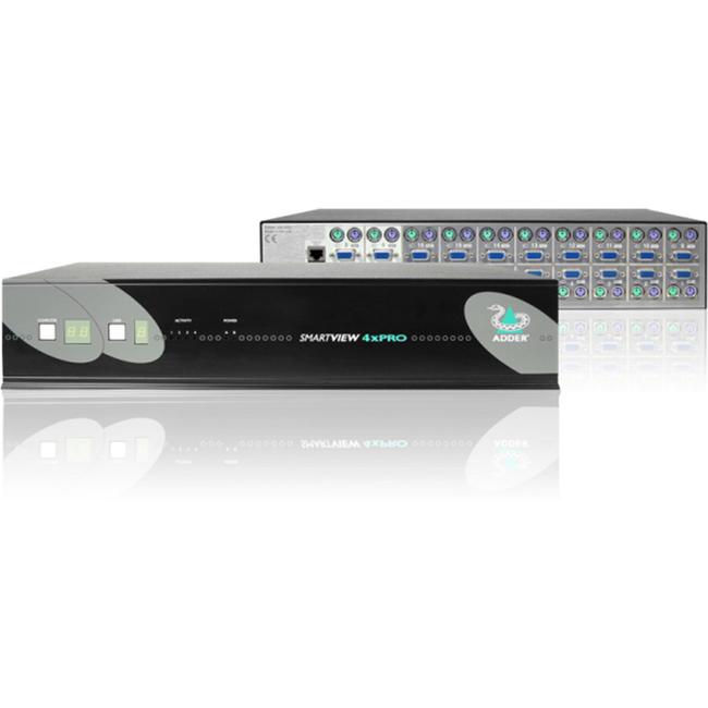 Adder SmartView X-PRO. 2 PS/2 & VGA Users to 8 Computers KVM Switch