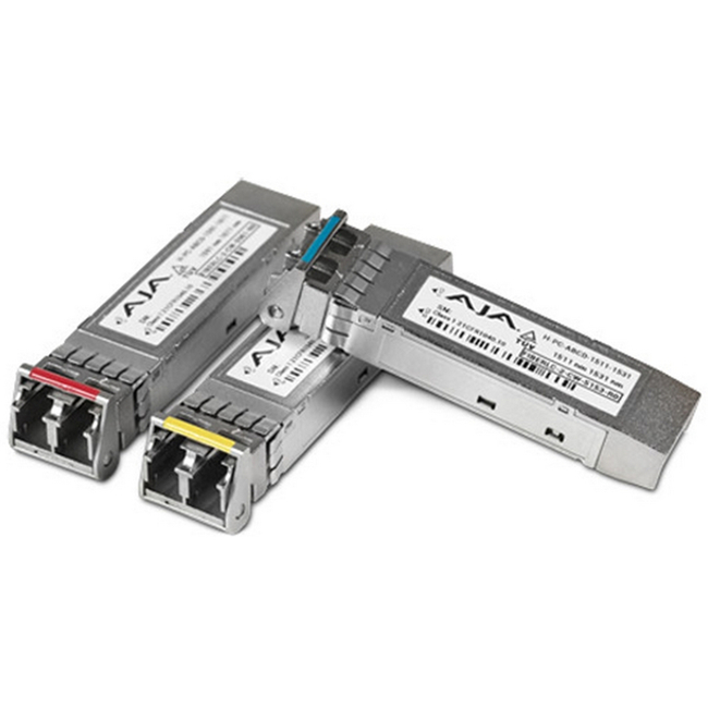 AJA: FIBERLC-1TX-MM Single Multi-Mode LC 3G Fiber Tx SFP (for use with FiDO)