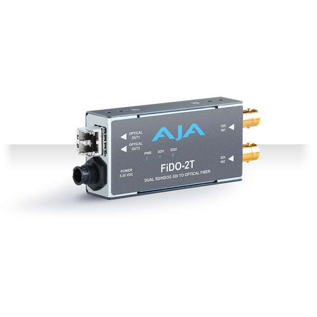 AJA: FIDO-2T-MM 2-Channel 3G-SDI to Multi-Mode LC Fiber Transmitter