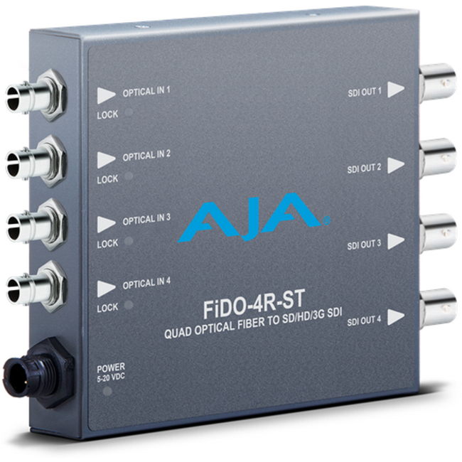 AJA: FIDO 4R-ST 4-channel Optical Fiber to 3G-SDI-ST fiber connectors