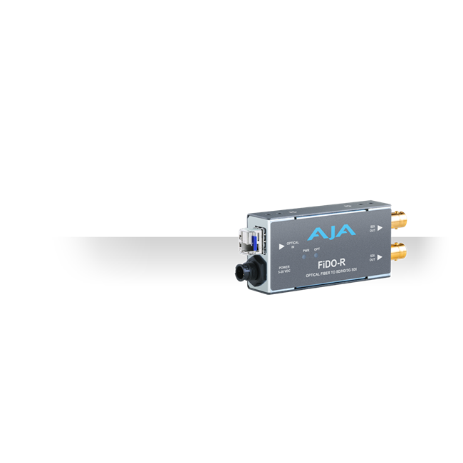 AJA: FIDO-R-MM 1-Channel Multi-Mode LC Fiber to 3G-SDI Receiver