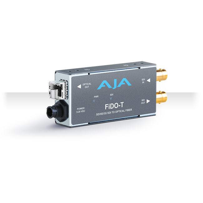 AJA: FIDO-T-MM 1-Channel 3G-SDI to Multi-Mode LC Fiber Transmitter
