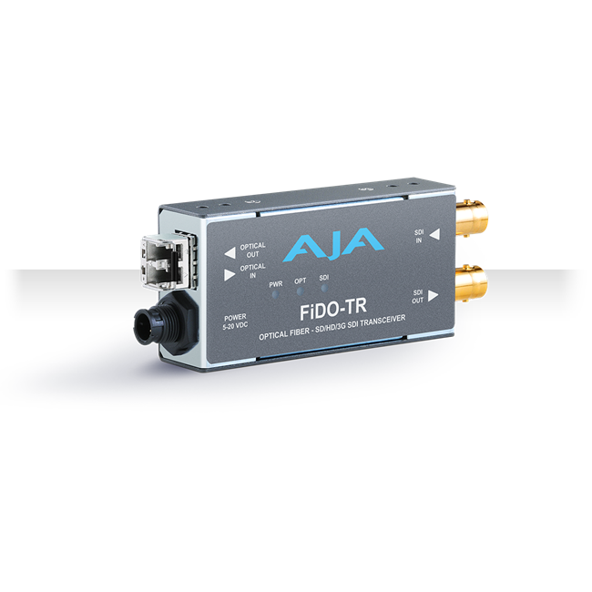 AJA: FIDO-TR-MM 1-Channel 3G-SDI/LC Multi-Mode LC Fiber Transceiver