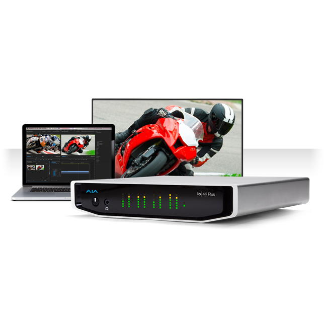AJA: IO-4K-Plus12-bit 4K/UltraHD/HD I/O via Thunderbolt 3