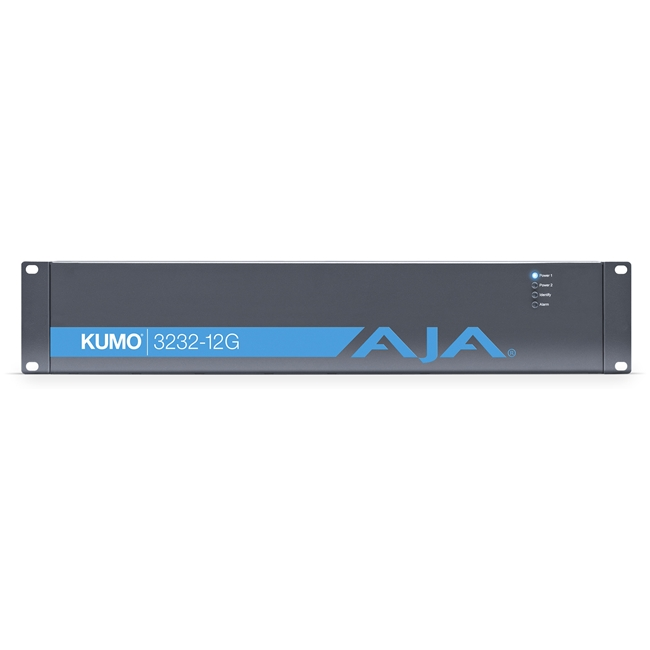 AJA: Kumo 32 x32 Compact 12G-SDI Router, with 1 power supply