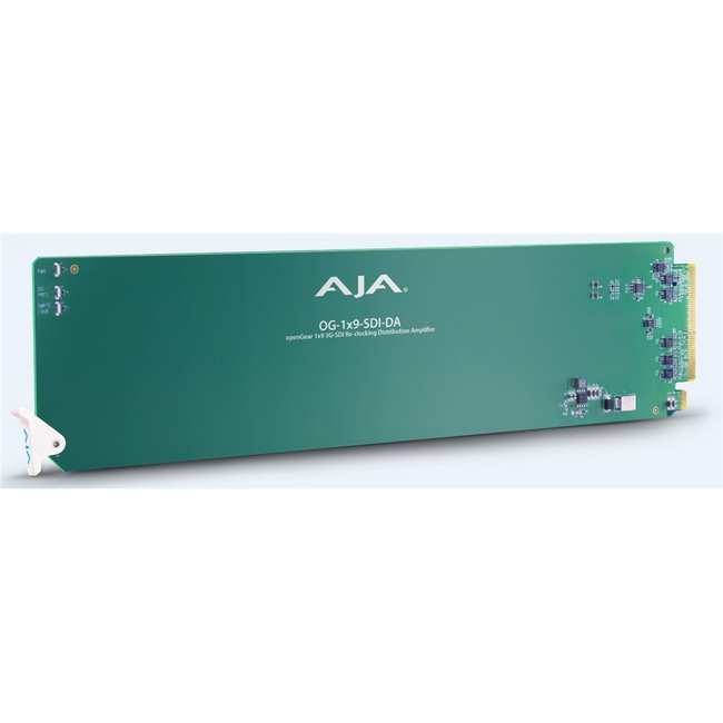 AJA: OG-1X9-SDI-DA openGear 1x9 3G-SDI Re-clocking Distribution Amp - Requires 2 slots in frame
