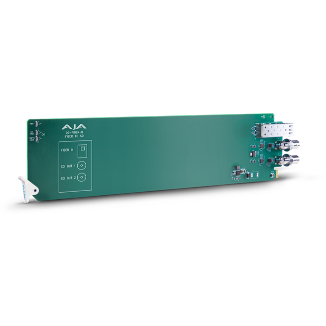AJA: OG-FIBER-R openGear 1-channel Fiber to SDIr Converter - Requires 2 slots in frame