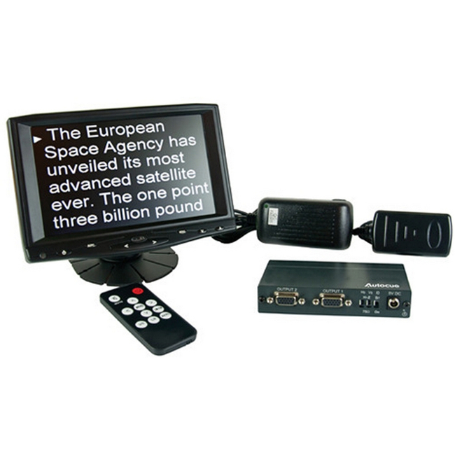 "Autocue: MON-SSP/PREVIEW - 7"" Preview Monitor, VGA Splitter and Cables"