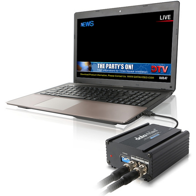 Datavideo: TC-200 DSK / Overlay Box for Laptops - No PCI card required