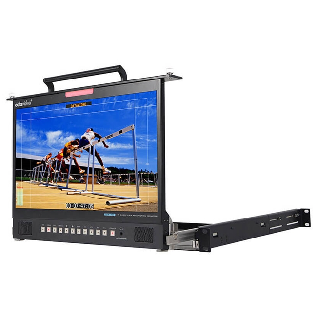"Datavideo TLM-170 (VM) 1U Foldable Rackmount Tray 17"" ScopeView Production Monitor"