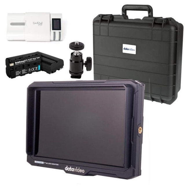 "Datavideo TLM700K 7"" 4K Monitor, Case and Accessory Kit"