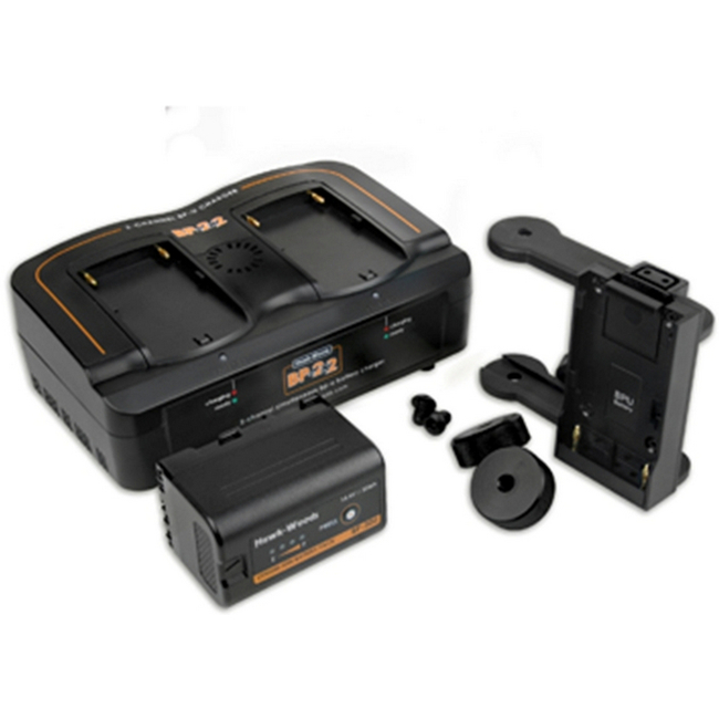 Hawk-woods: BST-K1  - Blackmagic Pocket Camera Boost Power Kit - 1x Adaptor - 1x Dual Charger -...