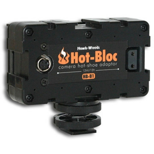 Hawk-woods: HB-B1 - Hot-Bloc 3-Way Hot-Shoe Sony NPF Battery — Output: 12V Power-Con