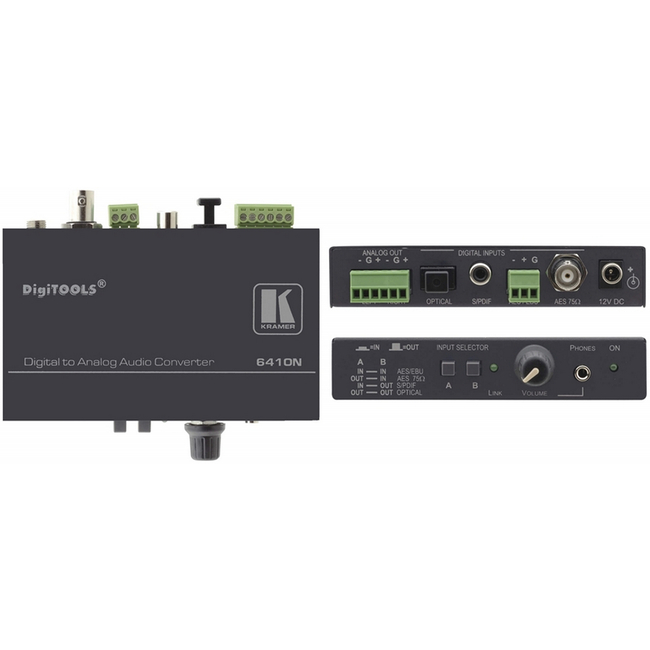 Kramer: 6410N Digital Audio to Balanced Stereo Audio Format Converter