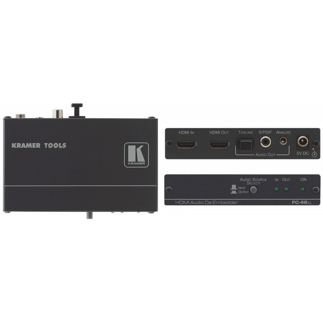 Kramer: FC-46XL HDMI Analog and Digital Audio De-Embedder