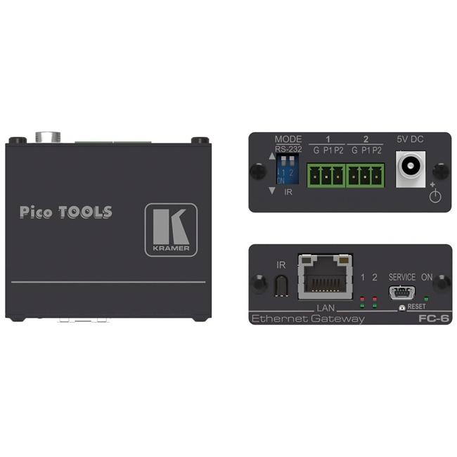 Kramer FC-6: 2-port Multi-Function Serial/IR Control Gateway