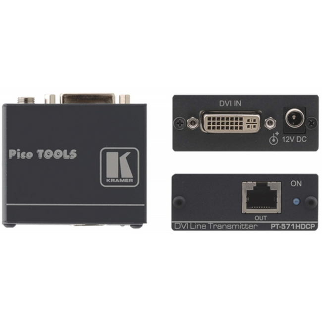 Kramer PT-571HDCP: DVI Over single CAT-5/6 Transmitter PoE