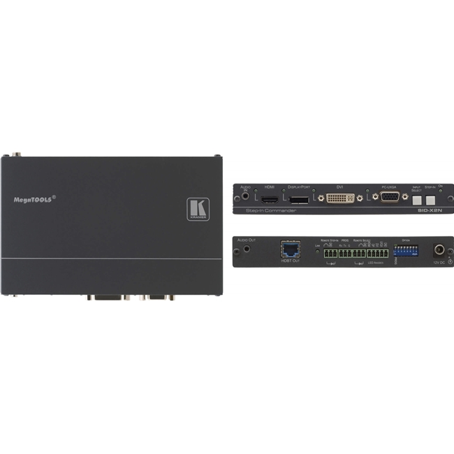 Kramer SID-X2N: 4-Input Multi-Format Video over HDBaseT Tx c/w Step-In