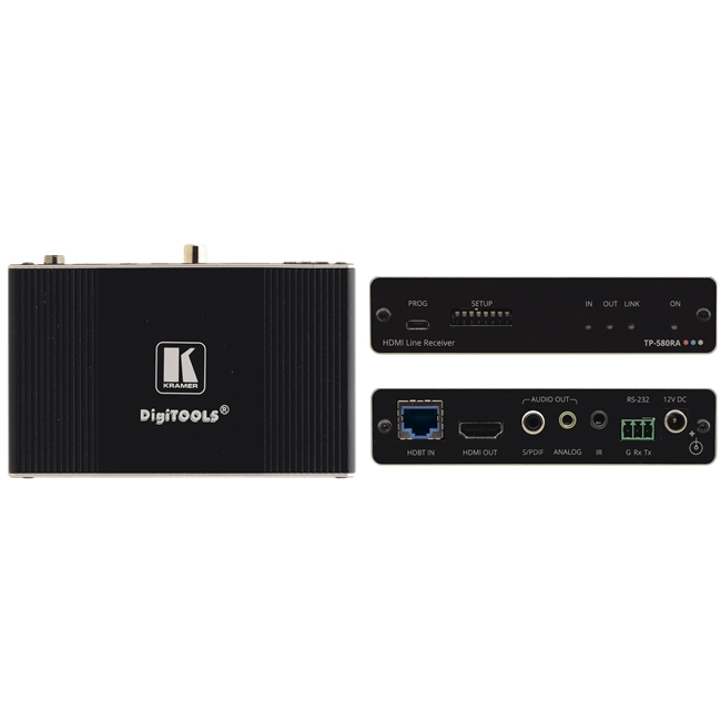 Kramer: TP-580RA 4K 60Hz HDMI Receiver as above c/w Stereo Audio De-embed