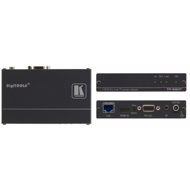Kramer: TP-580T HDMI, Bidirectional RS-232 & IR over HDBaseT Transmitter