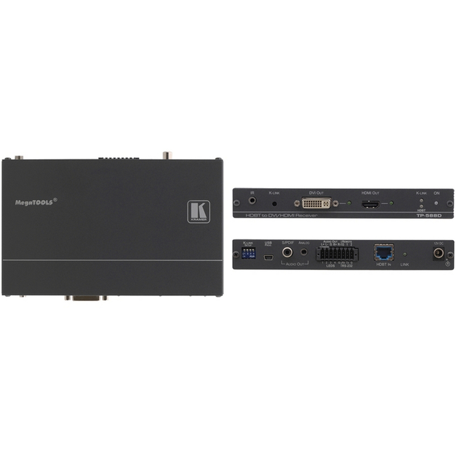 Kramer: TP-588D HDMI/DVI, Audio & Data over HDBaseT Receiver