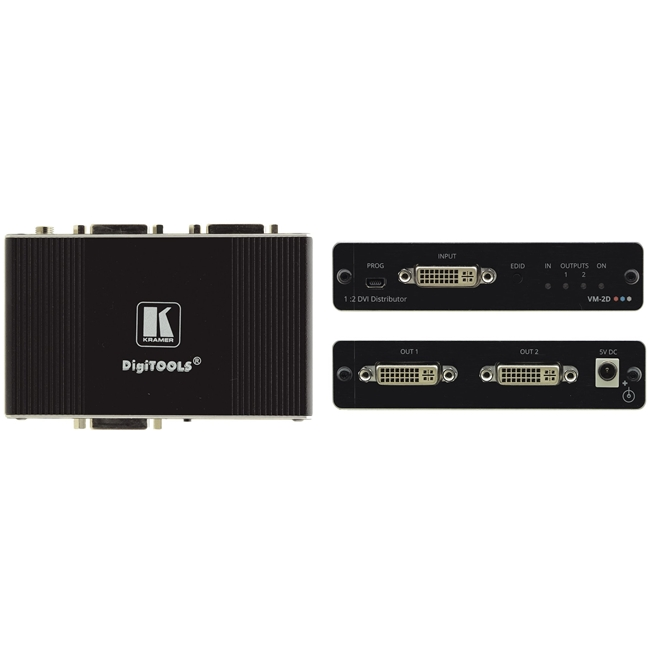Kramer: 4K 60Hz 1: 2 DVI Distribution Amplifier (ReClocking) HDCP single link Kramer: 4K 60Hz 1: 2 DVI Distribution Amplifier (ReClocking) HDCP single link_DELETED