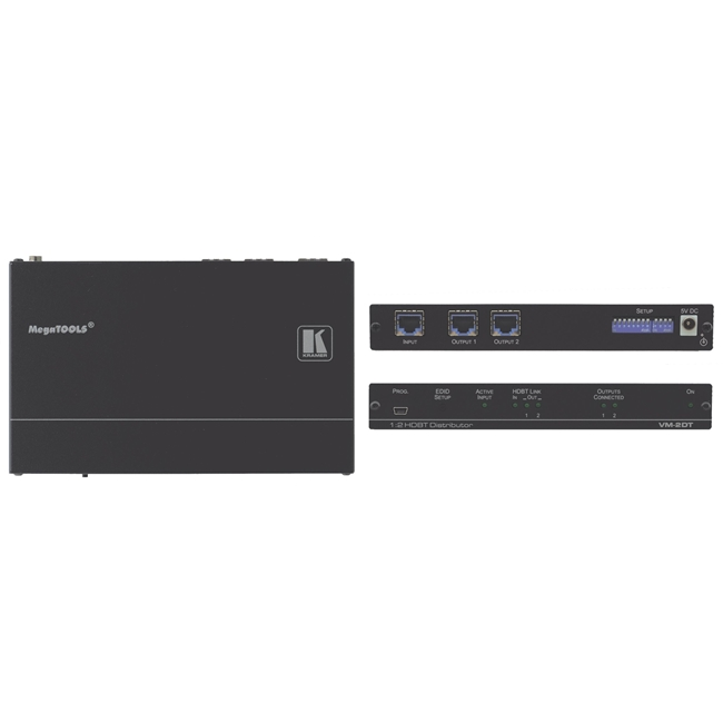 Kramer: VM-2DT 4K 60Hz 1: 2 HDBaseT Distribution Amplifier