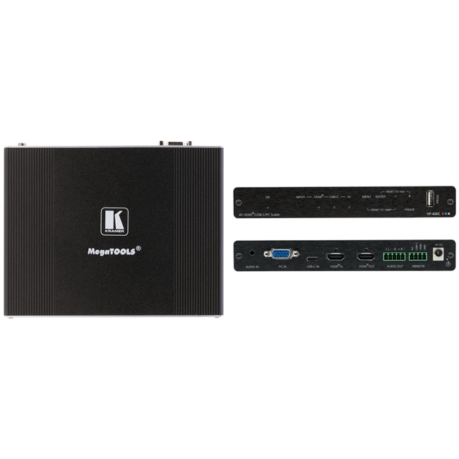 Kramer: VP-426C 18G 4K HDR HDMI ProScale™ Digital Scaler with HDMI, USB–C and VGA Inputs