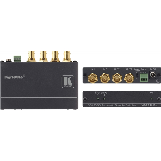Kramer VS-211HDXL: 2x1:2 3G HD-SDI Automatic Standby Switcher
