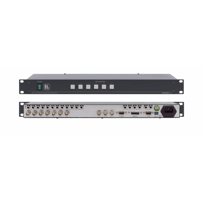 Kramer VS-601XLM: 6x1 Composite and St-Audio Switcher (3 O/Put)