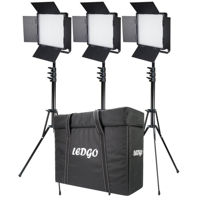 LEDGO 600BCLK3: Three Light 600 Bi-Colour Location Lighting Kit