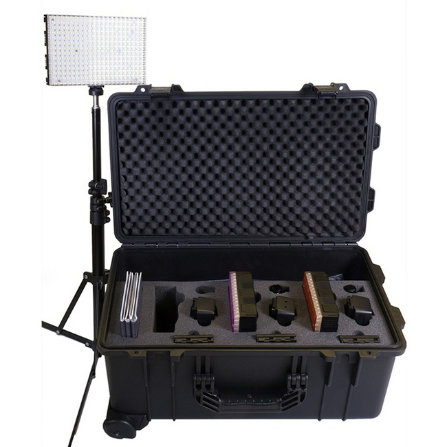 Datavision: LEDGO 3x 308 Light Daylight Reporter Lighting Kit