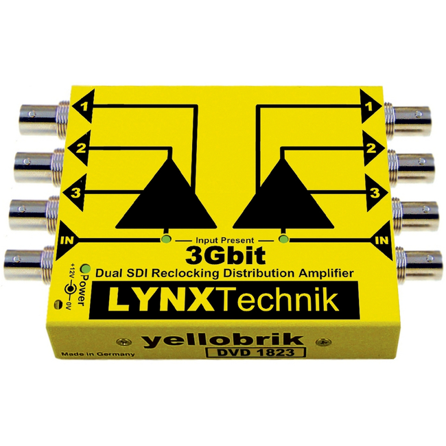 Lynx Technik: DVD1823 (yellobrik) Dual 1:3 SDI Video Distribution Amplifier