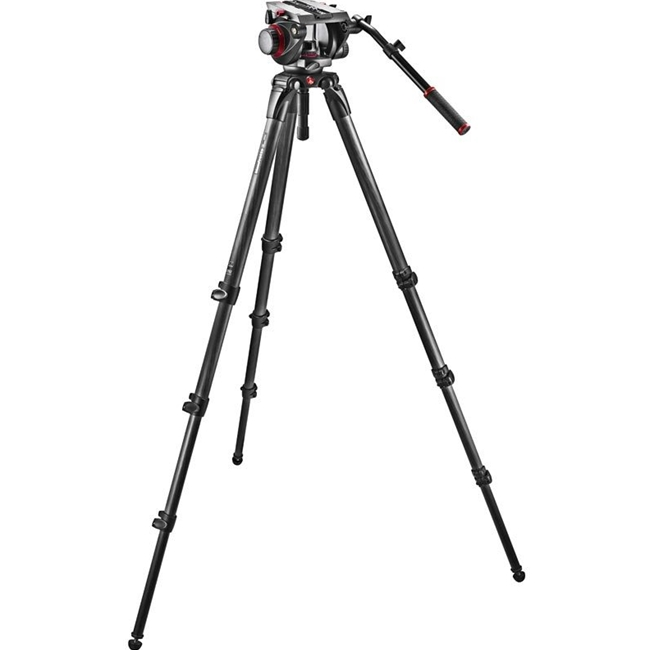 Manfrotto: MAN-509HD+536K 536 Carbon Fiber Tripod with 509HD Video Head and Padded Carry Bag