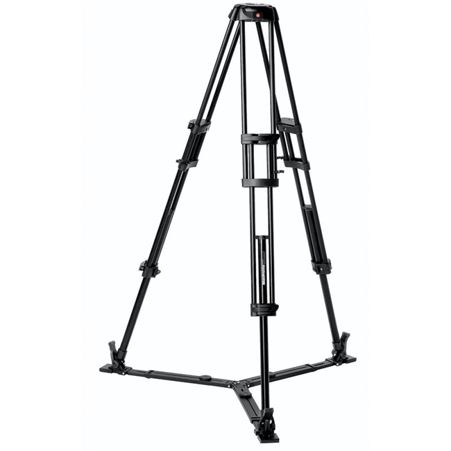 Manfrotto: MAN-546GB Aluminium Video Tripod with 2 Risers and Twin Legs