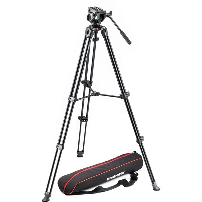 Manfrotto: MAN-MVK500AM Lightweight Tripod | Video Head with Side Lock