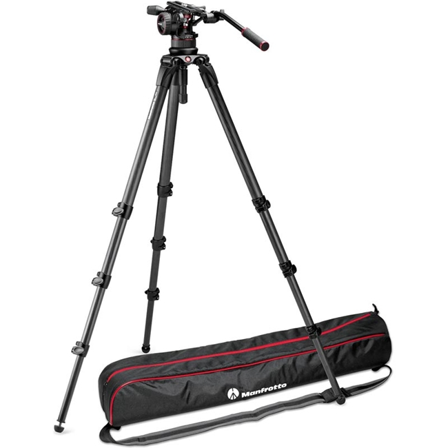 Manfrotto: MAN-MVKN12CTALL Nitrotech N12 | CF Tall Single Legs Tripod