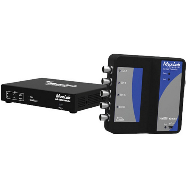 Muxlab 6G-SDI Extender over Cat5e/6 (150m)