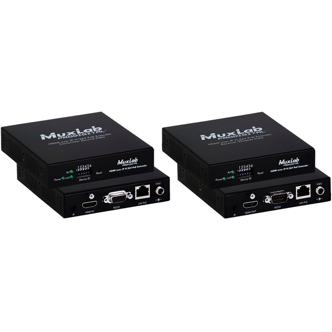 Muxlab HDMI over IP H.264 Extender with PoE