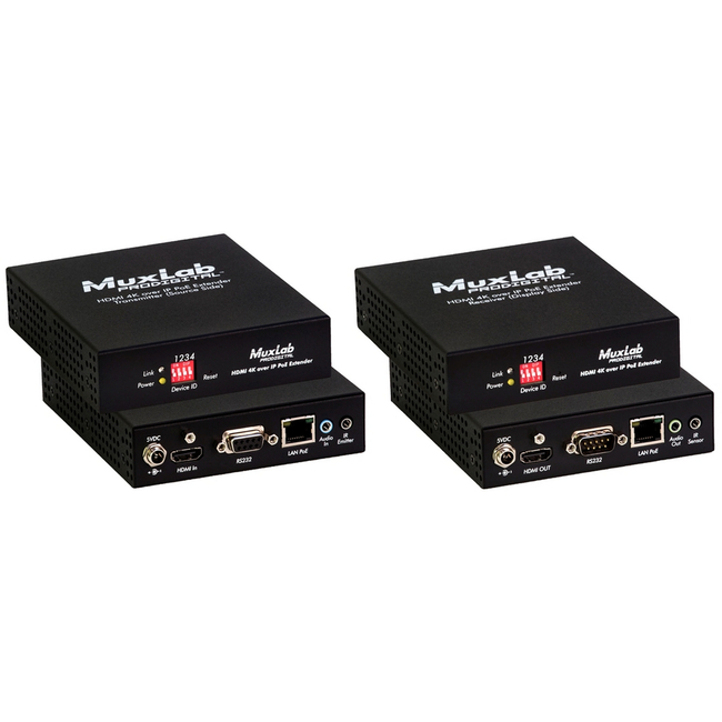 Muxlab 4K30 over IP Extender With PoE