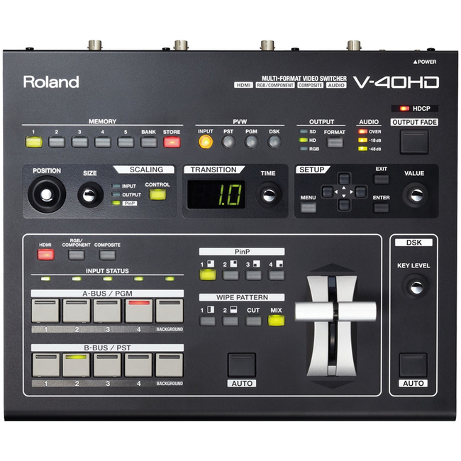 Roland: V-40HD 4 Channel HD-HDMI Vision Mixer with Embedded Audio