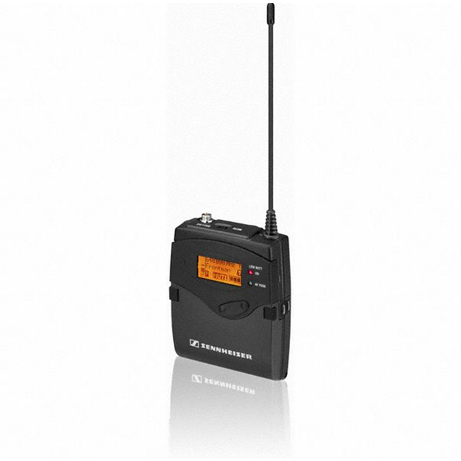 Sennheiser: SK 500 G3 Bodypack transmitter: 42 MHz, 1680 tunable frequencies, up to 32 presets