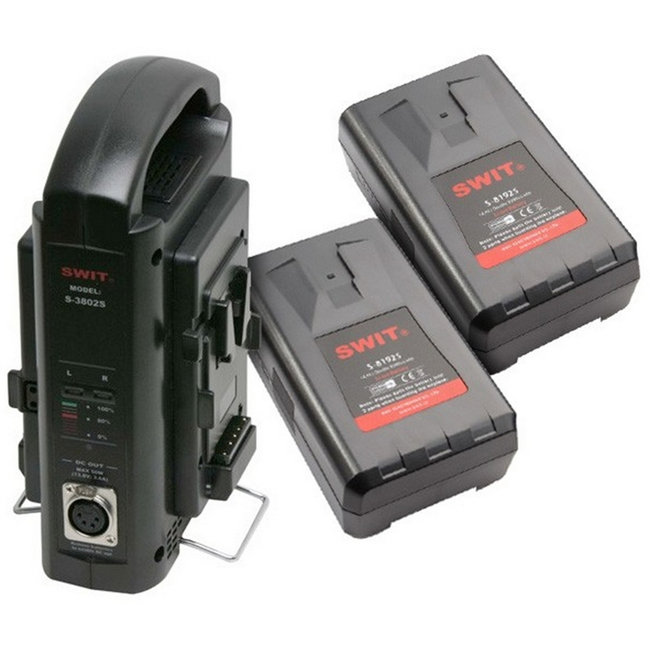 Swit: 2 x S-8192S Batteries plus 1 x SC3802S Charger