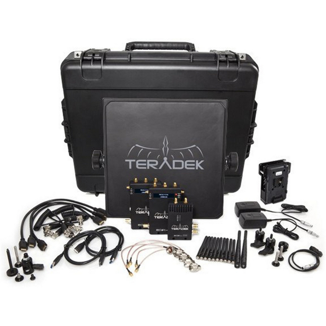 Teradek BOLT Pro 1000 HD-SDI / HDMI Wireless Video TX / 2RX Deluxe Kit with V Mount