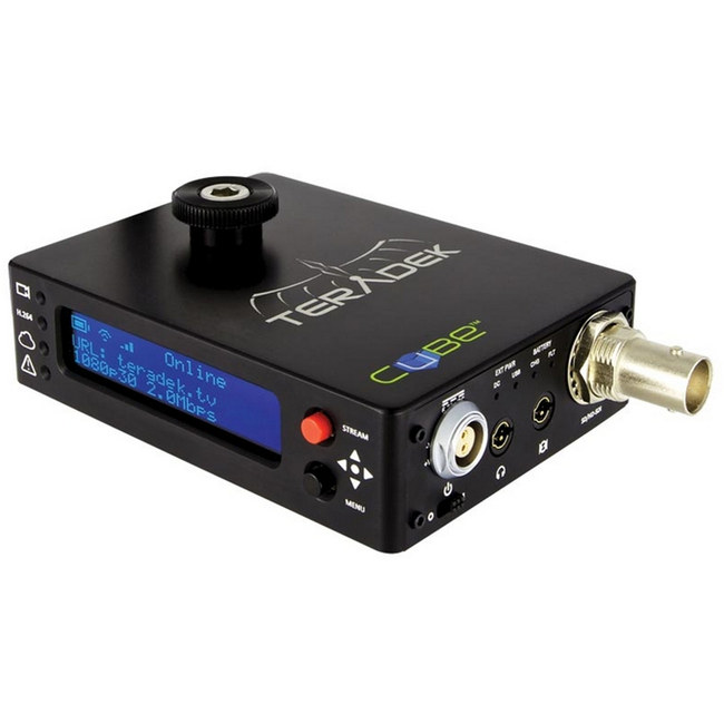Teradek Cube-106 1ch HD-SDI Encoder - OLED External USB Port and Power Over Ethernet