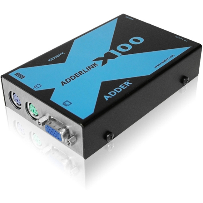 AdderLink X100  PS/2 & VGA KVM CATx Extender Pair (USB CAM) 100 Mtr