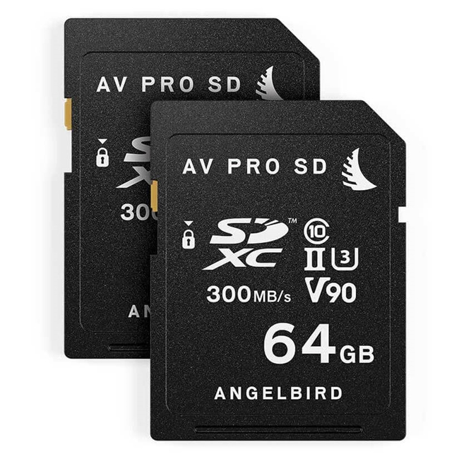 Angelbird Match Pack for Panasonic GH5/GH5S 64 GB | 2 PACK 2 x SD 64 GB cards