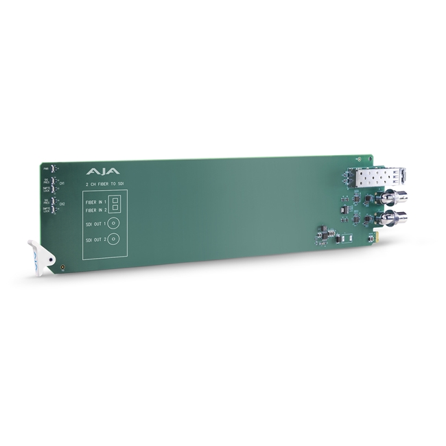 AJA:  2-Channel Multi-Mode LC Fiber to 3G-SDI Receiver**