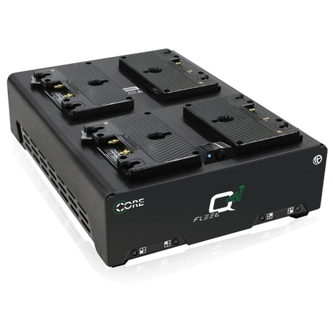 CoreSWX Four Position 3-Stud Fast Simultaneous Li-Ion Charger with Voltbridge Bluetooth Technology